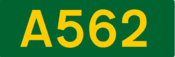 A562 road shield