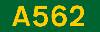 A562 road road in England