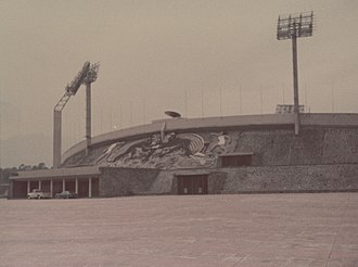 Athletics at the 1968 Summer Olympics – Men's decathlon - Image: UNAM Mexico City Olympic Stadium
