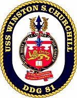 Jata USS Winston Churchill