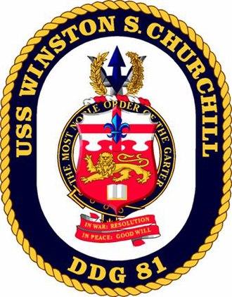 United States heraldry - Image: USS Winston Churchill DDG81Seal