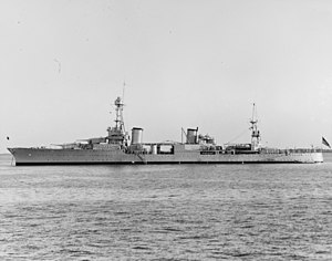 USS Chester (CA-27) - Image: USS Chester (CA 27) Hampton Roads 1930
