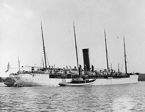 SS Arizona - In 1897, Arizona was rebuilt with one funnel and served the U.S. Government as the USAT and USS Hancock until after the First World War.