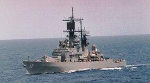 USS Harry E. Yarnell (CG-17) underway in the 1980s
