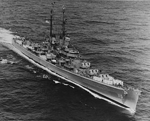 USS Juneau (CLAA-119) underway on 1 July 1951 (NH 96890).jpg