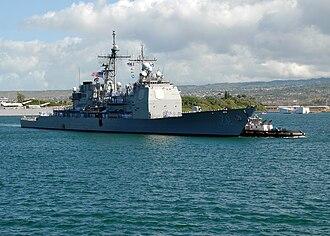 USS Lake Erie (CG-70) - Image: USS Lake Erie (CG 70) Pearl Harbor