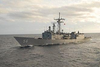 USS Simpson (FFG-56) - Image: USS Simpson (FFG 56) port side