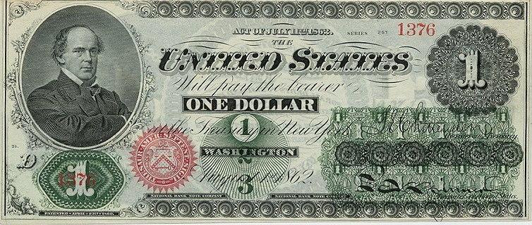 US $1 1862 Legal Tender