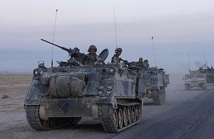 US M113 in Samarra Iraq