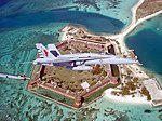 US Navy 020603-N-0000H-001 F-18C over Fort Jefferson National Monument.jpg