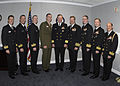 US Navy 031217-N-0399H-071 Eight Commanders from the Constellation Battle Group were awarded the Bronze Star at the Pentagon today, for their roles in Operation Iraqi Freedom.jpg