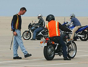 Motorcycle safety - US Navy motorcycle training at Imperial Beach
