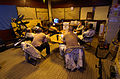 US Navy 041207-N-6932B-053 Sailors assigned to Mobile Security Force Detachment Two Two (MSD-22) watch a movie during their down time between the various watches they stand aboard the Al Basrah Oil Terminal (ABOT).jpg