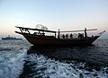 US Navy 051206-N-6019M-123 Sailors assigned to the amphibious transport dock USS Austin (LPD 4) render assistance to the stranded dhow Riveria Boat in the Persian Gulf.jpg