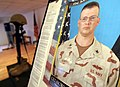 US Navy 061028-M-0000X-005 Construction Electrician 2nd Class Charles V. Komppa, 35, from Belgrade, Mont., is memorialized three days after he was killed in action in Iraq's western Al Anbar Province.jpg