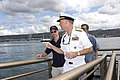 US Navy 070303-N-4856G-022 Commander Naval Region Hawaii Rear Adm. Townsend G. Alexander gives Gary Sinise a tour of Pearl Harbor.jpg