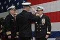 US Navy 080111-N-5248R-028 Capt. J.R. Haley issues a final salute as commanding officer of the Nimitz-class nuclear-powered aircraft carrier USS Theodore Roosevelt (CVN 71).jpg
