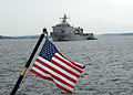 US Navy 080729-N-7656R-001 he amphibious dock landing ship USS Germantown (LSD 42) arrives in Seattle for the 2008 Seafair Fleet Week.jpg