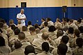 US Navy 080811-N-8273J-044 Chief of Naval Operations (CNO) Adm. Gary Roughead speaks with Sailors during an all hands call at Naval Forces Central Command.jpg