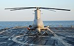 US Navy 090508-N-2821G-001 The Northrop Grumman Corporation-developed Unmanned Aerial Vehicle MQ-8B Fire Scout sits on the flight deck of the guided-missile frigate USS McInerney (FFG 8).jpg