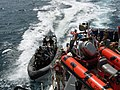US Navy 090606-N-4747K-002 Members of a Royal Bahrain Navy boarding team approach the U.S. Coast Guard cutter Maui (WPB-1304) in a rigid hull inflatable boat during exercise Goalkeeper.jpg