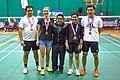 US Senior International Badminton Tourney (Miami) - XD 40 Final - Andy & Lei-Choon def David & Evi 13 & 13 (16029875683).jpg