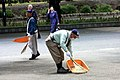 Ueno Park sweepers on duty; May 2013 (02).jpg