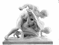 Pankration was an ancient form of unarmed hand to hand combat resembling modern MMA.