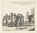 Uittocht van het Spaanse leger uit Maastricht, 1632 (plaat 5) Het Spaansche garnizoen verlaat Maastricht, 1632 (serietitel) Discessus Hispanici Praesidii Trajecti ad Mosam Ao. 1632. Die 23 Augusti (serietitel), RP-P-1898-A-20239.jpg