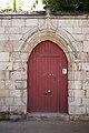 Une porte de style gothique flamboyant.JPG