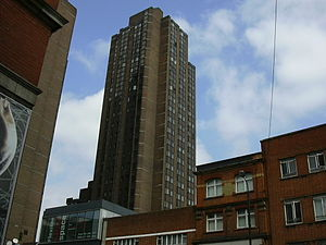Union Jack Club - The club viewed from Waterloo Road, towering over the surrounding buildings