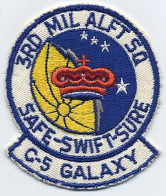 3d Airlift Squadron - Unit insignia for the 3rd ALS prior to its switch to the C-17