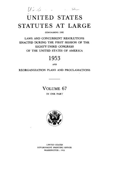 File:United States Statutes at Large Volume 67.djvu