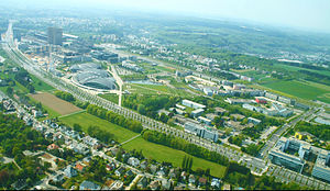 University of Luxembourg - Campus Kirchberg and surrounding area