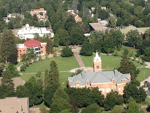 University of Montana Missoula Campus - View from Mount Sentinel - By Djembayz (Own work) [CC-BY-SA-3.0 (http://creativecommons.org/licenses/by-sa/3.0)], via Wikimedia Commons