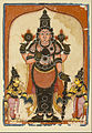 Unknown Indian - Lord Vishnu with Two Consorts, Sree Devi and Bhu Devi - Google Art Project.jpg