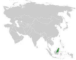 Urosphena whiteheadi distribution map.png