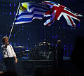 Uruguay and British Flags - Paul McCartney - ON THE RUN - Uruguay, 2012-04-16 (2).jpg