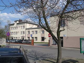 Zelów Place in Łódź Voivodeship, Poland
