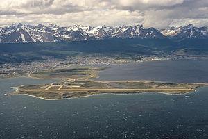Ushuaia – Malvinas Argentinas International Airport - Image: Ushuaia Airport Aerial Image