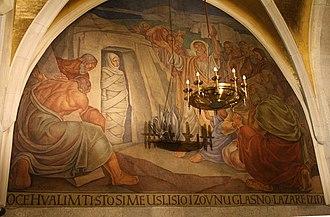 St. Mark's Church, Zagreb - Image: Uskrišenje Lazarevo srpanj 2008