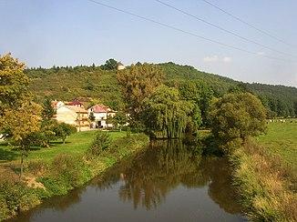 The Úslava below the Hůrka in Starý Plzenec
