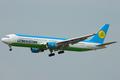 Uzbekistan Airways Boeing 767-300ER VP-BUF DMK 2005-1-14.png