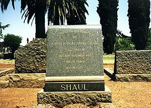 John Shaul - Image: VC John David Francis Shaul Grave