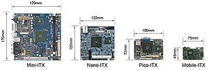 Mini-ITX - ITX motherboard form factor comparison