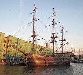 8 janvier 1749 - Naufrage de l'Amsterdam 280px-VOC_ship_Amsterdam2