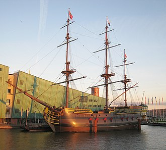 East Indiaman - A full-scale replica of the Dutch Indiaman Amsterdam