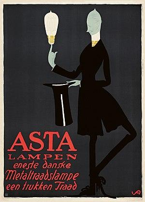 Valdemar Andersen (artist) - Image: Valdemar Andersen Asta Lampen (1912)