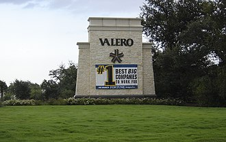 Valero Energy - Valero signage at corporate headquarters