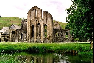 Guto'r Glyn - Valle Crucis Abbey. Guto spent his last years here, and it has been suggested that he was adopted by the abbey and educated there.